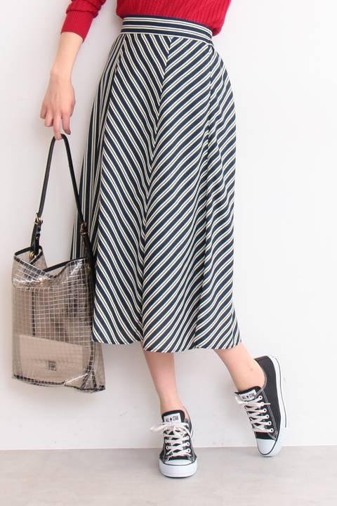 マルチカラーストライプスカート