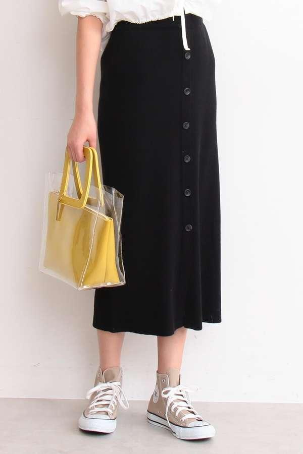 【先行予約3月下旬-4月上旬入荷予定】コットンリブニットセットアップスカート