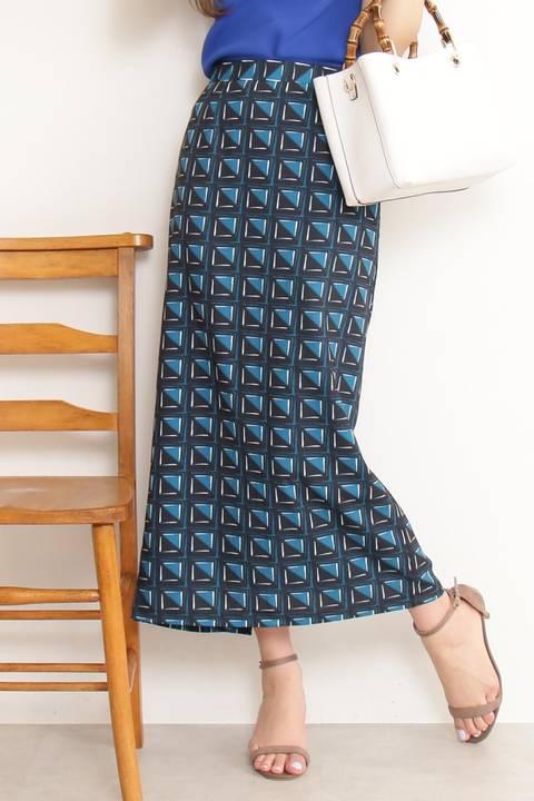 アフリカンプリントタイトマキシスカート