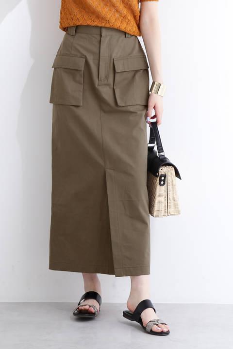 ツイルダンプWポケットマキシスカート
