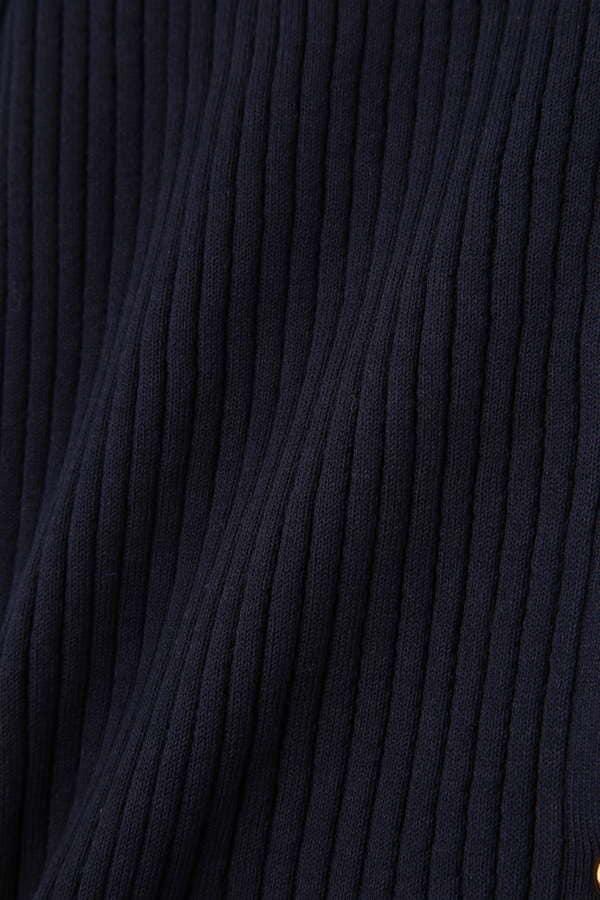 柄編みリブニットカーディガン