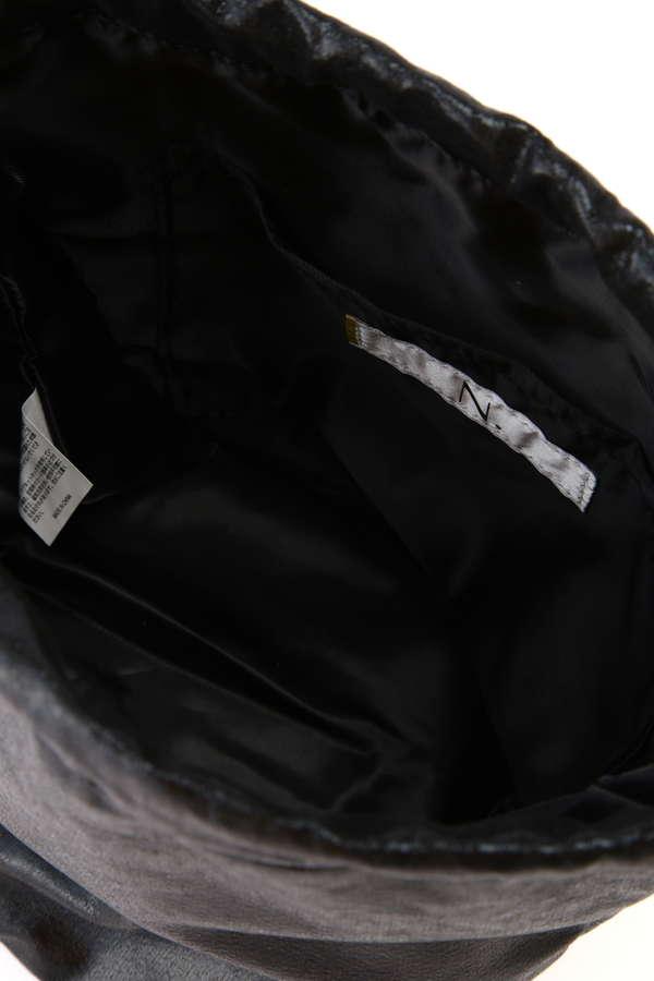 メタリック巾着ショルダーバッグ