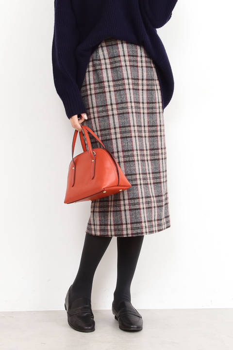 【先行予約11月中旬-11月下旬入荷予定】ジュネスチェックタイトスカート