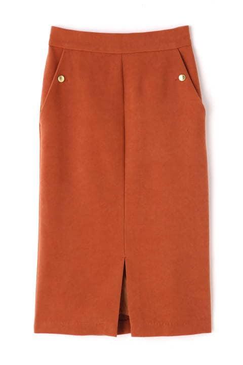 ポケット釦タイトスカート