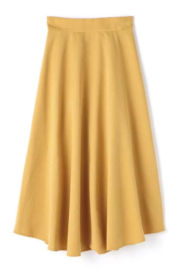 カラーイレヘムスカート