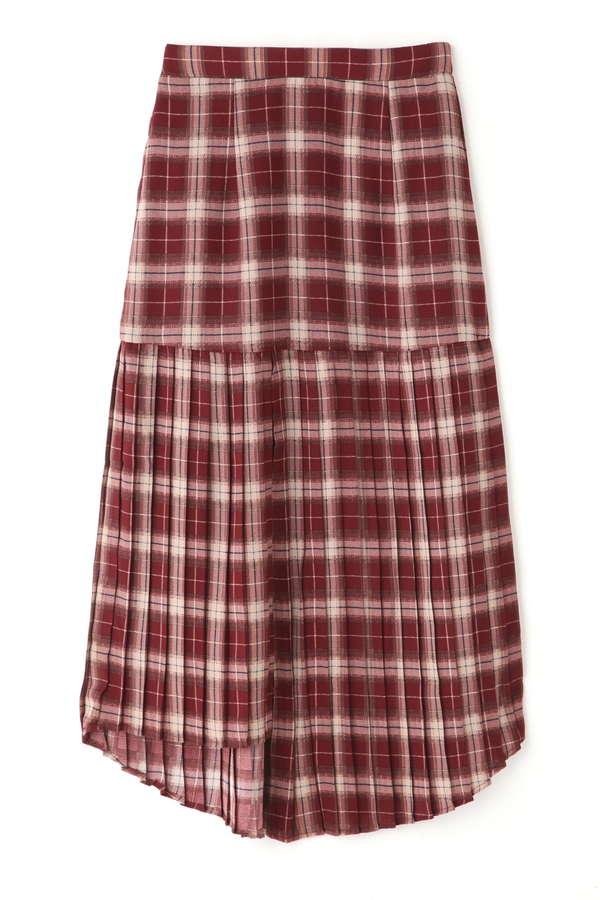イレヘムプリーツマーメイドスカート