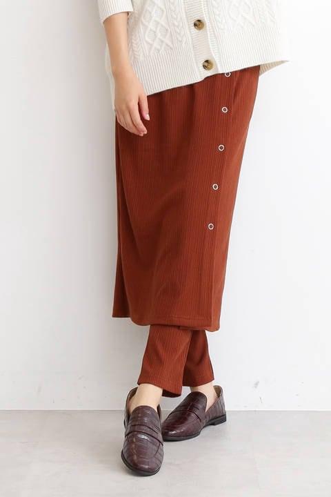 リブタイトスカート×レギンスセットアップ