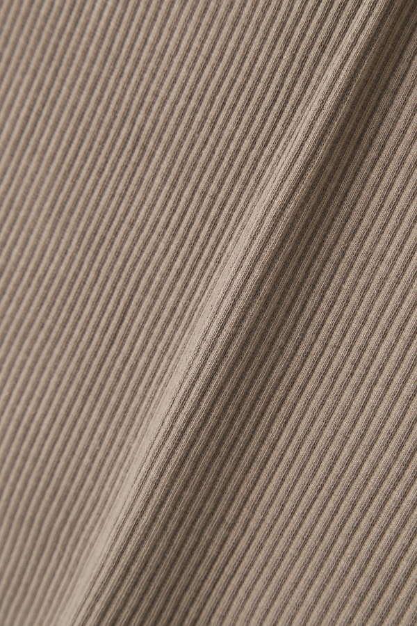 テレコアシンメトリーネックTシャツ