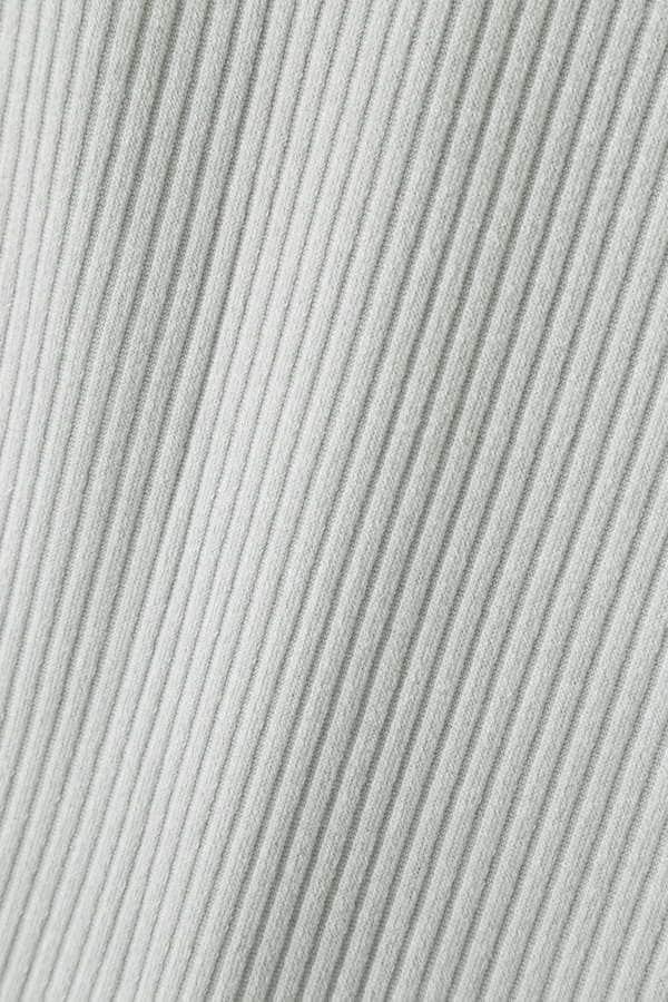 リブカットソー五分袖