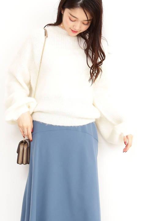 袖コンシャスニット
