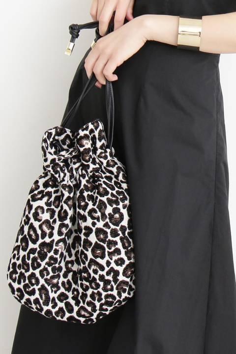 レオパード巾着ショルダーバッグ