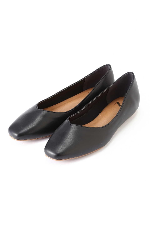 【公式/エヌ ナチュラルビューティーベーシック】Vカットパンプス/女性/靴・パンプス/ブラック/サイズ:L/(甲皮の使用材)合成皮革(底材の種類)合成底