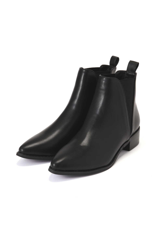 【公式/エヌ ナチュラルビューティーベーシック】サイドゴアブーツ/女性/靴・ブーツ/ブラックスムース/サイズ:M/(甲皮の使用材)合成皮革(底材の種類)合成底