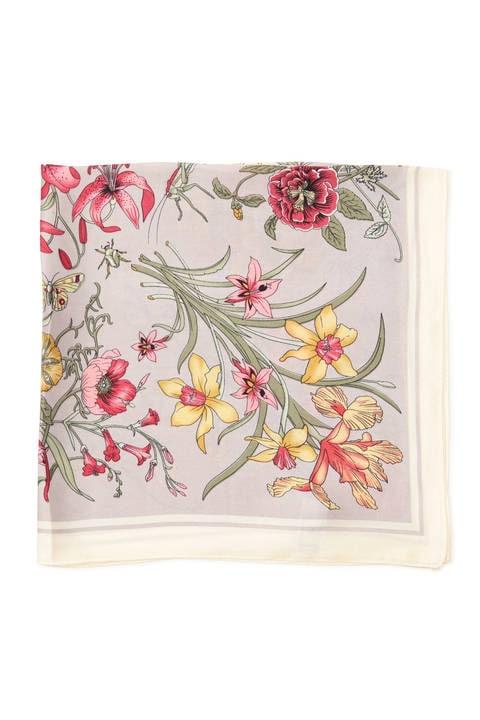 ヴィンテージ風花柄スカーフ