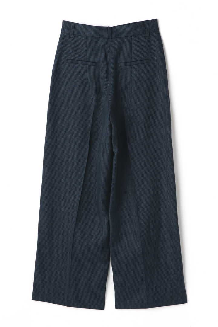 ATON / LINEN HOUND'S TOOTH WIDE PANTS2