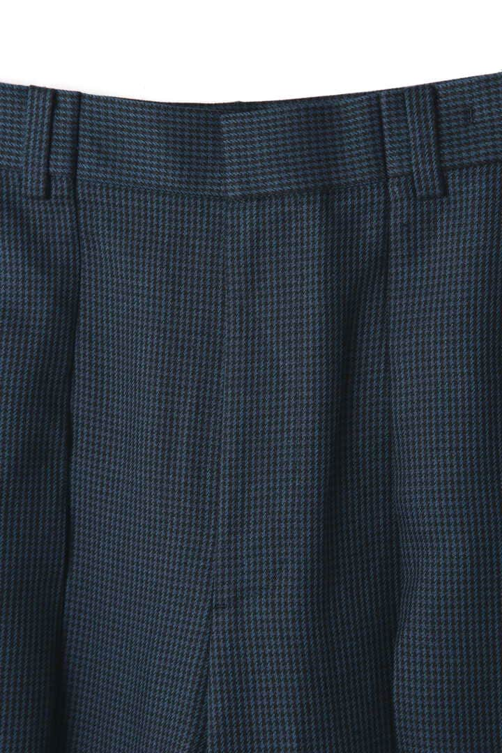 ATON / LINEN HOUND'S TOOTH WIDE PANTS3