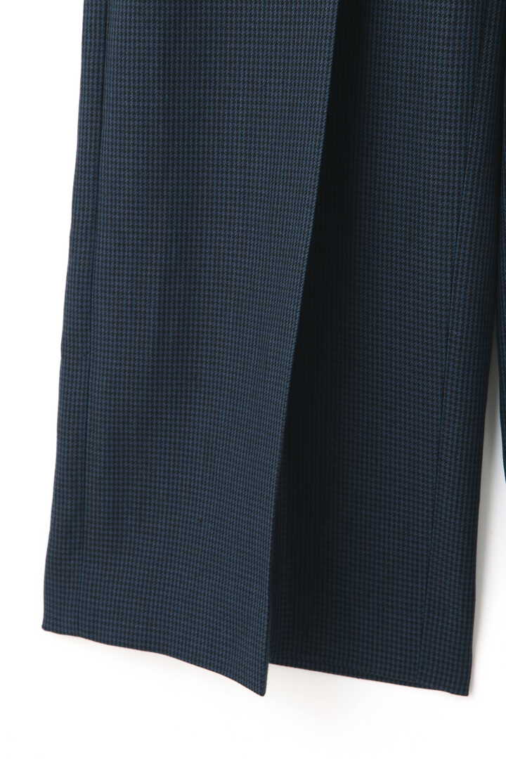 ATON / LINEN HOUND'S TOOTH WIDE PANTS5