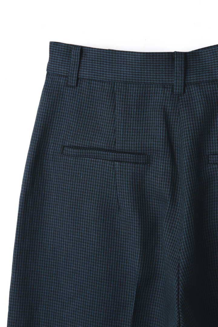 ATON / LINEN HOUND'S TOOTH WIDE PANTS6