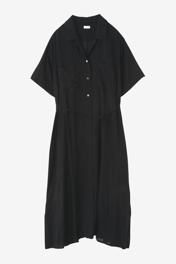 BLURHMS / OPEN COLLAR SHIRT DRESS_010