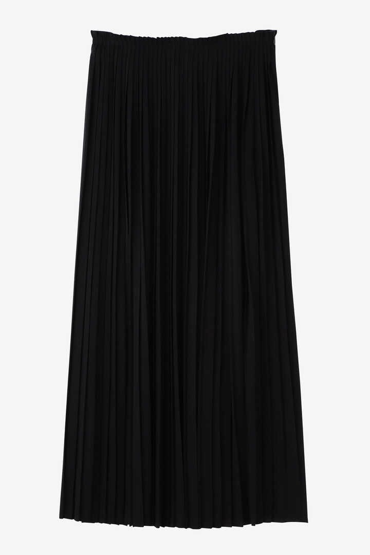ATON / WOOL PLAIN JERSEY PLEATS SKIRT1