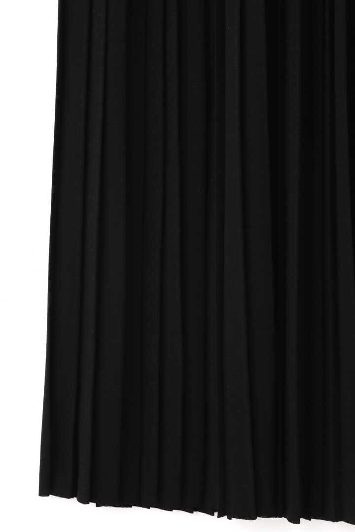 ATON / WOOL PLAIN JERSEY PLEATS SKIRT6