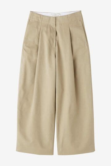 STUDIO NICHOLSON / PEACHED COTTON TWILL CLASSIC VOLUME PLEAT PANTS_040