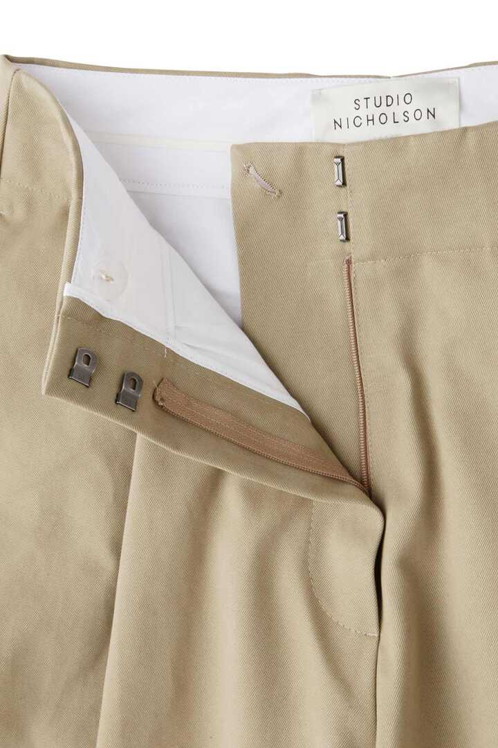 STUDIO NICHOLSON / PEACHED COTTON TWILL CLASSIC VOLUME PLEAT PANTS7