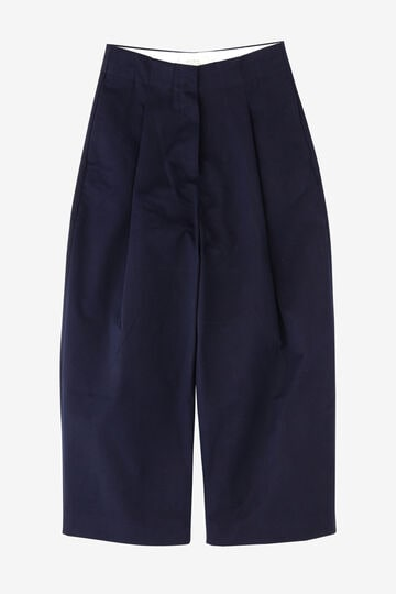 STUDIO NICHOLSON / PEACHED COTTON TWILL CLASSIC VOLUME PLEAT PANTS_120