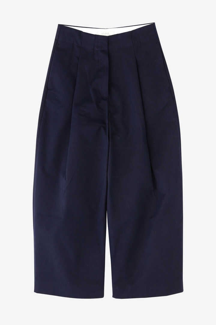 STUDIO NICHOLSON / PEACHED COTTON TWILL CLASSIC VOLUME PLEAT PANTS1