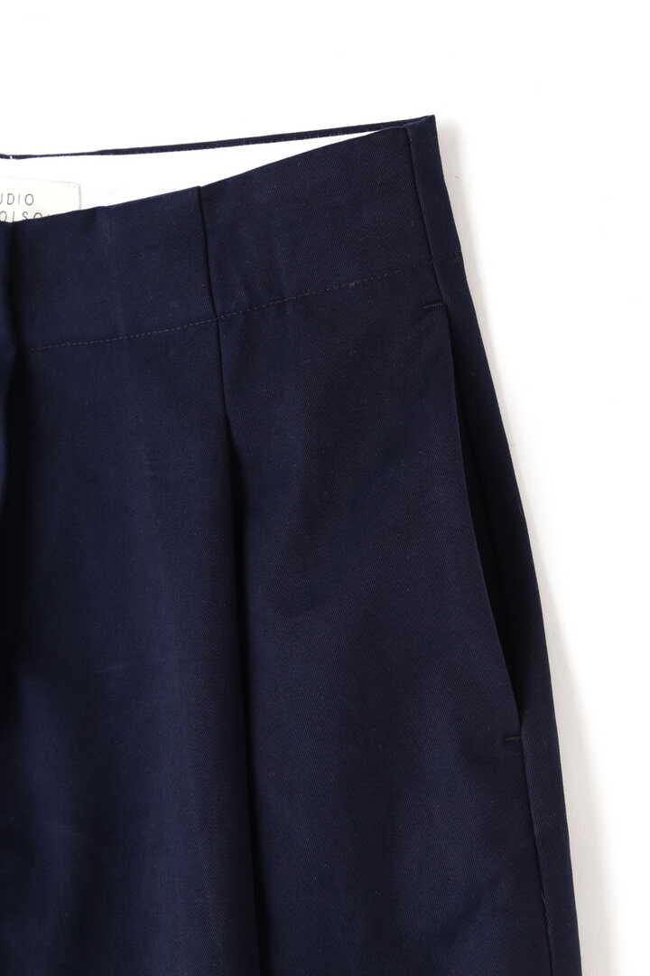 STUDIO NICHOLSON / PEACHED COTTON TWILL CLASSIC VOLUME PLEAT PANTS4