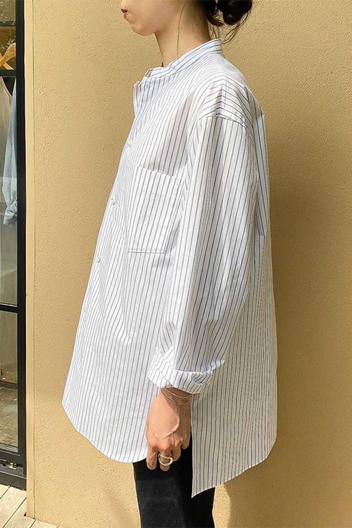 [別注]BLURHMS / HIGH COUNT STAND-UP COLLAR SHIRT FOR THE LIBRARY10