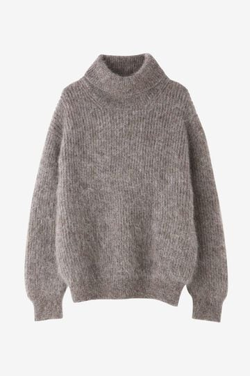 BLURHMS / KID MOHAIR ALPACA WOOL KNIT TURTLE-NECK P/O_050