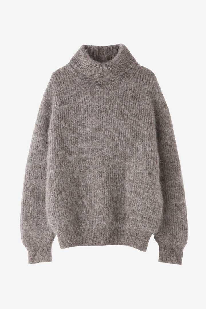 BLURHMS / KID MOHAIR ALPACA WOOL KNIT TURTLE-NECK P/O1