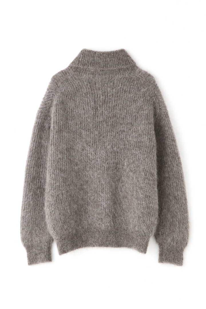 BLURHMS / KID MOHAIR ALPACA WOOL KNIT TURTLE-NECK P/O2