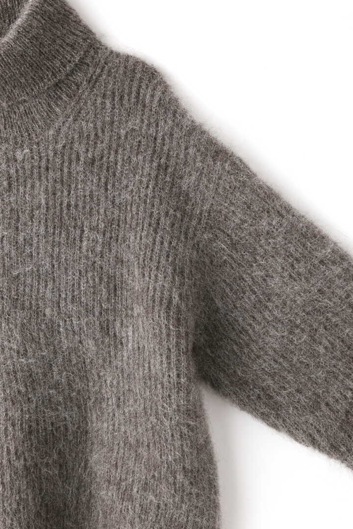 BLURHMS / KID MOHAIR ALPACA WOOL KNIT TURTLE-NECK P/O4