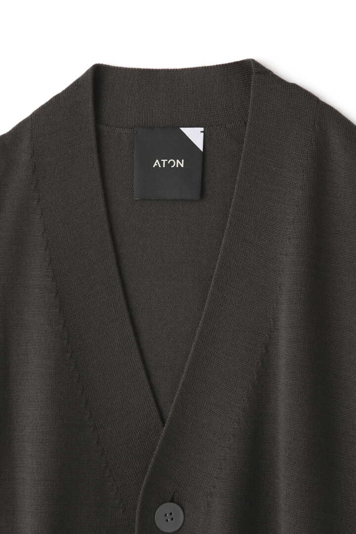 ATON / SLOW WOOL OVERSIZED CARDIGAN3