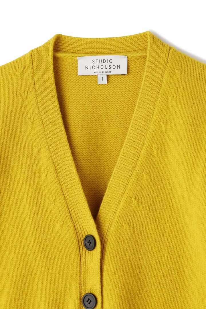 STUDIO NICHOLSON / ENGLISH LAMBSWOOL RIB DETAIL CARDIGAN3