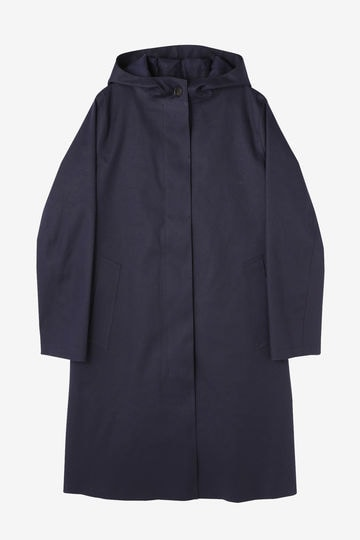 MACKINTOSH / HOODED SGL BREASTED COAT