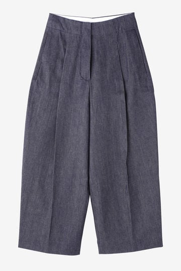 STUDIO NICHOLSON / DENIM-VOLUME PLEAT PANT