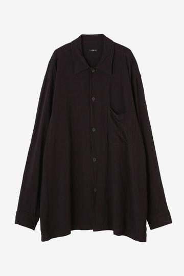 【店舗限定】COMOLI / レーヨン オープンカラーシャツ