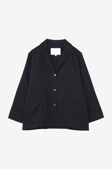 STUDIO NICHOLSON / FLUID SHIRTING CAMP COLLAR SHIRT