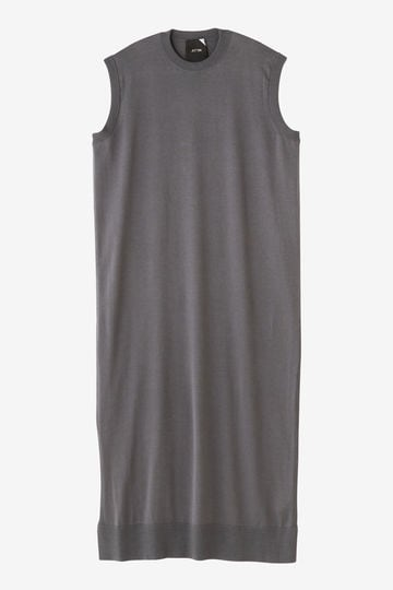 ATON / CREW NECK LONG DRESS