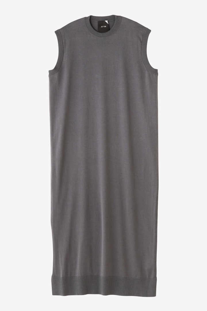 ATON / CREW NECK LONG DRESS1