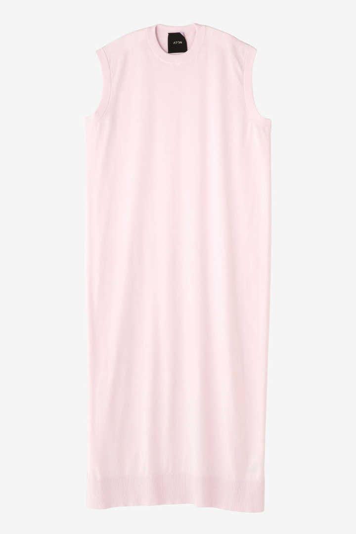ATON / CREW NECK LONG DRESS3