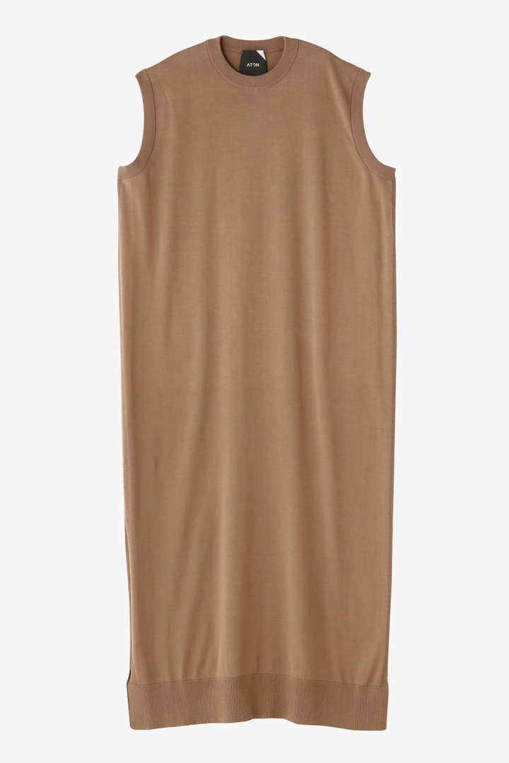 ATON / CREW NECK LONG DRESS13