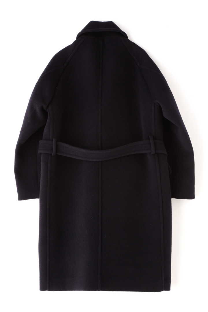 BLURHMS / WOOL CASHMERE MELTON SHAWL COAT2