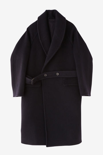 BLURHMS / WOOL CASHMERE MELTON SHAWL COAT_120