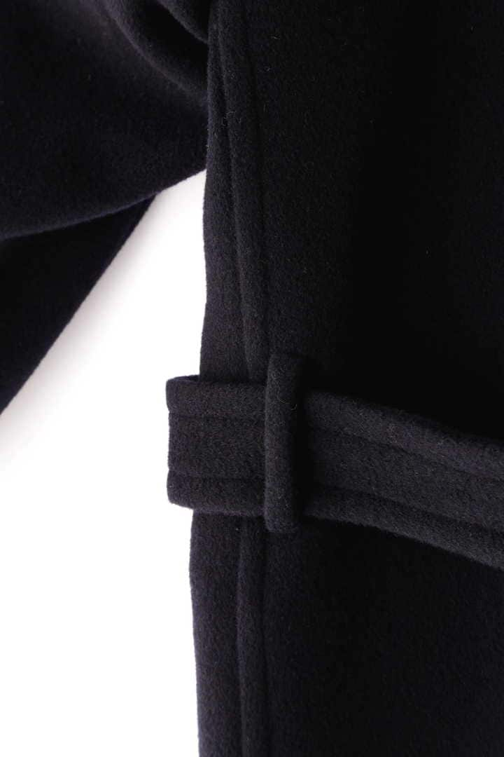 BLURHMS / WOOL CASHMERE MELTON SHAWL COAT8