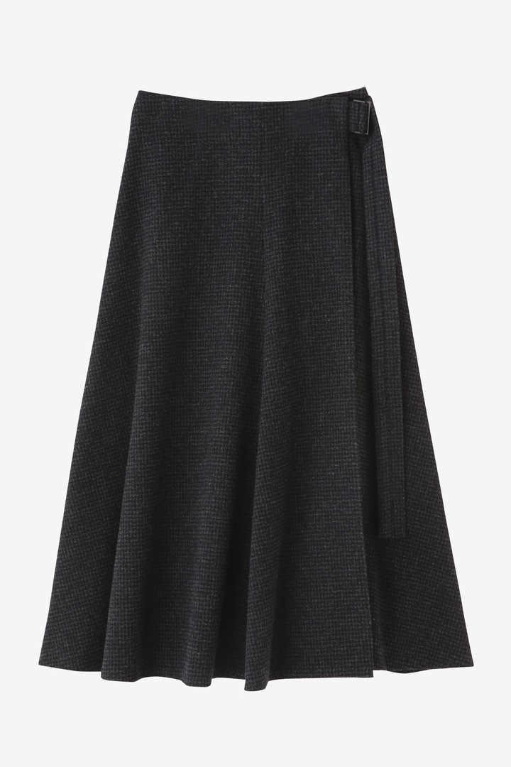 ATON / SECOND SKIN WOOL ベルトラップスカート1