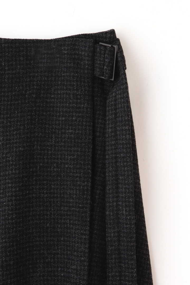 ATON / SECOND SKIN WOOL ベルトラップスカート4